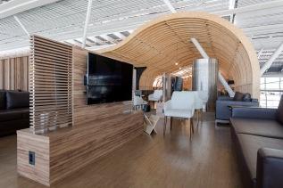 Sala VIP Express Club – projeto: BOA arquitetos associados,  execução: Quintino, no aeroporto Internacional deBrasília